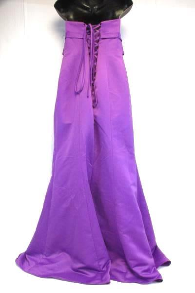 Metoo Purple Stap Bridesmaid Dress Font Bow and Crystals Size 12 Lace Up Back