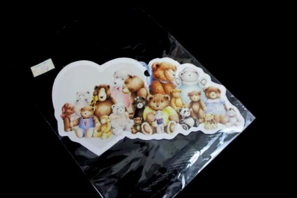 Lot of 19 Heartprint Angel Bear Heart Baby Gift Tags Shower Present NEW