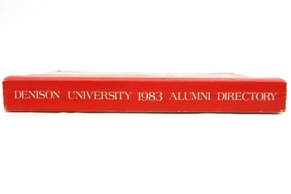 Vintage 1983 Denison University Alumni Directory