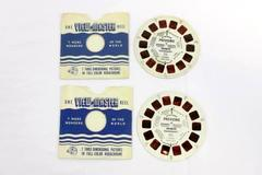 Lot of 2 Vintage 1976 Sawyer's View Master Reels Previews DR 77 002-007
