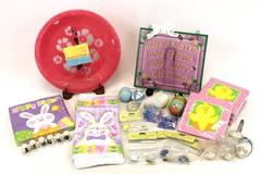 Large Lot Easter Table Holiday Decor Napkins Plate Holders Figurines Gift Bags