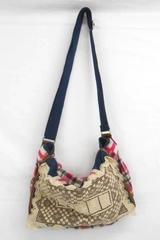 Arizona Jean School Book Bag Shoulder Strap Plaid Lace Tote