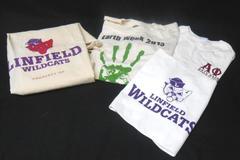 Linfield College Lot Sorority T-Shirt Earth Week T-Shirt M Laundry Bag Towel