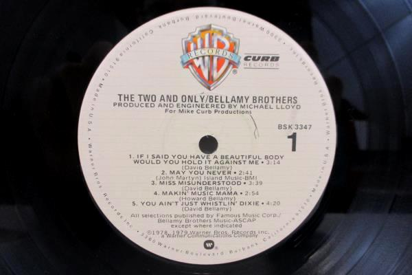 """Bellamy Brothers LP 33 RPM """"The Two And Only"""" 1979"""