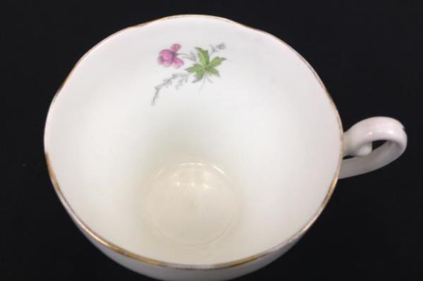 Adderley Bone China Lawley Tea Cup England Pink Blue Yellow Flowers