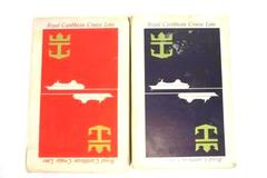 Lot of 2 Vintage Royal Caribbean Cruise Line Playing Cards Red and Blue Decks