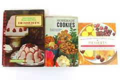 Lot of 3 Classic Dessert Cook Books Home Made Cookies and More!
