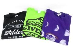 Lot of 3 Linfield Wildcats T-Shirts Size M Residence Life Gives Sorority Life
