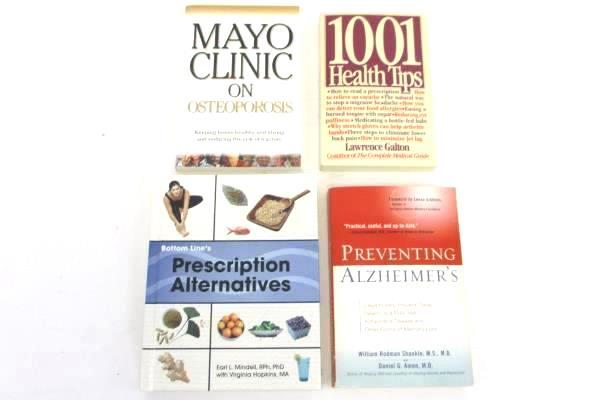 Lot of 4 Health Books Prescription Alternatives Osteoporosis Alzheimer's Tips