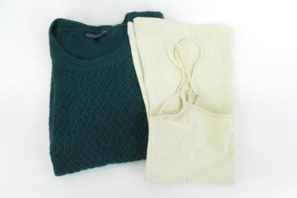 Women's 2pc Lot Jones New York Knit Sweater & 14th Union Cami Tank Sz M