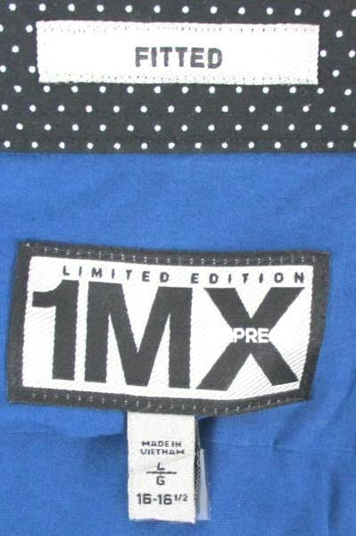 1MX Express Limited Edition Men's Blue Long Sleeve Fitted Button Up Shirt Size L