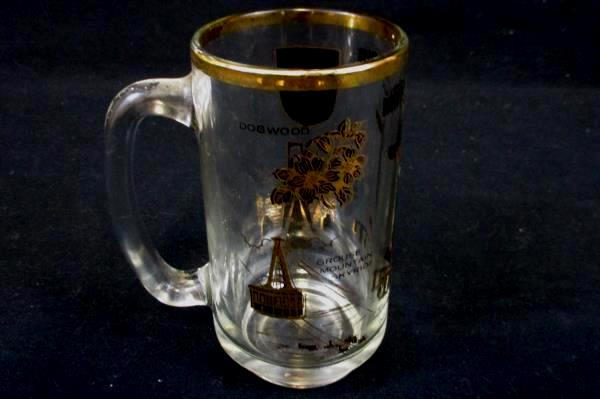 Vintage Canada British Columbia Indian Totem Pole Souvenir Glass Stein Mug