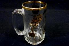 Vintage Canada British Columbia Indian Totem Pole Souvenir Glass Stein Mug