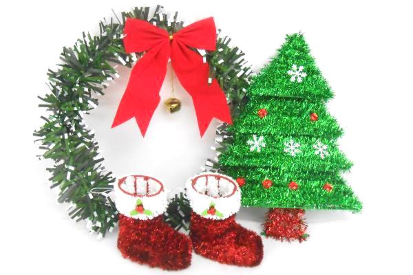 Mix Lot Christmas Holiday Home Decorations Wood Box Lights Wreath Bowl Platter