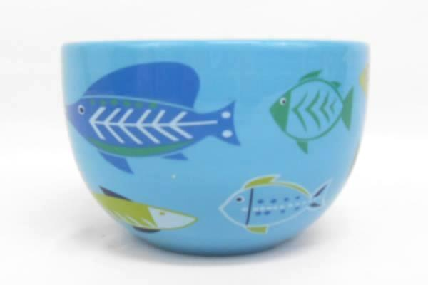 Tropical Fish Bowl Blue Boston Warehouse Decorative Serving Dip Appetizer 2007