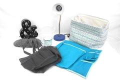 Lot of Dorm Room Supplies Tote Desk Lamp Organizer Basket Shower Caddy Decor