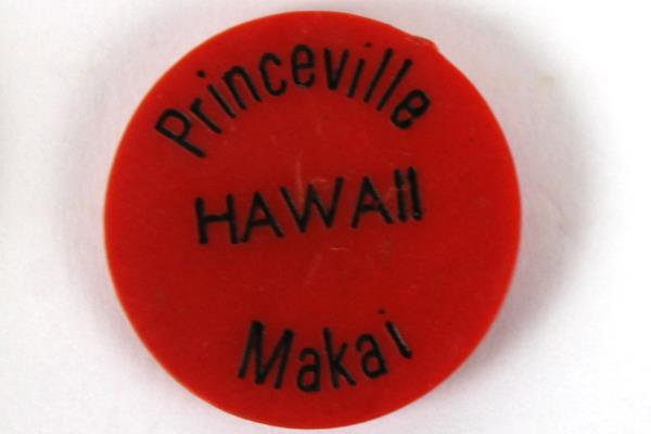 7: Plastic Ron Hoetmer De Anza CC Overlake - Princeville Hawaii Golf Markers