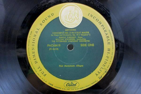 Rudolf Firkusny Beethoven Emperor Concerto No. 5 LP Record 33RPM P2 8419
