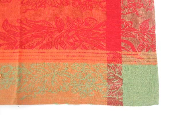 Vintage Set 4 Napkins Harvest Fall Colors Rectangle Table Setting