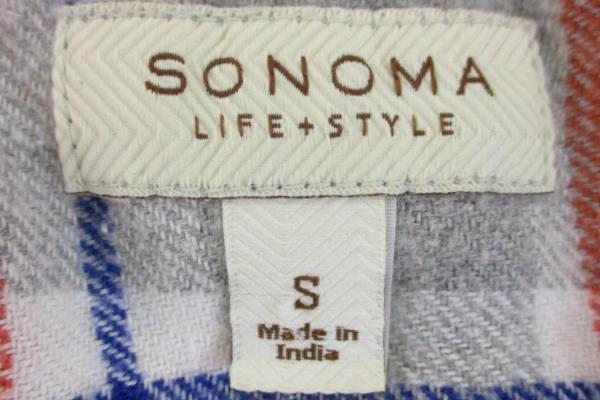 2 Piece Lot Men's Eddie Bauer Blue Pullover Sonoma Life+Style Button-up Size S