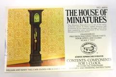 Vintage The House of Miniatures 40018 William & Mary Tall Case Clock in Box