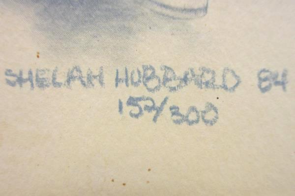1984 Signed Shelah Hubbard 152/300 Limited Edition Sketch Skipper Captain 4x6