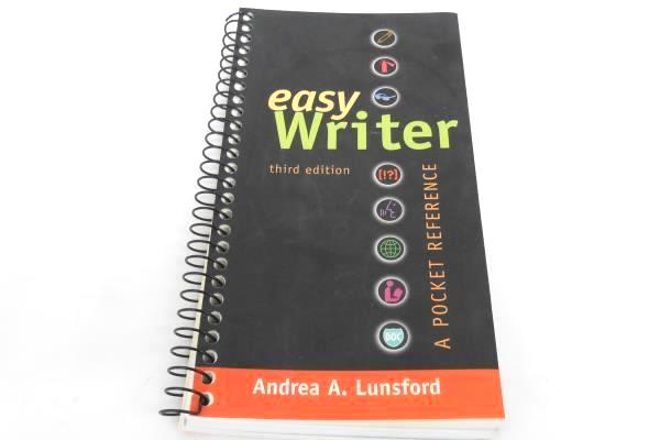 2 EasyWriter 3rd Ed. by Andrea A. Lunsford  2006 Spiral Bound