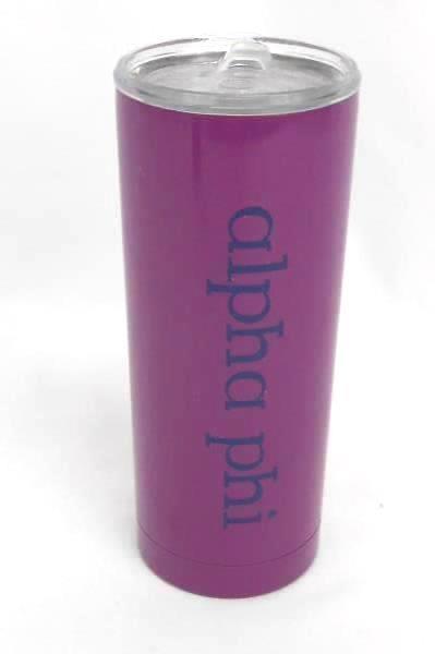 Lot of 2 Travel Mugs Built Metal & Plastic Purple Black Clear