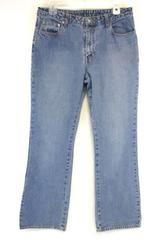 Bongo Jeans Medium Wash Mid Rise Denim Flare Leg Womens 11 100% Cotton