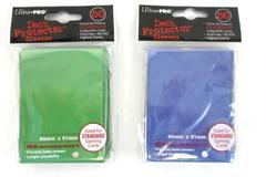 2 NEW Ultra Pro Deck Protector Sleeves Standard Size 50 Per Pkg Green Blue