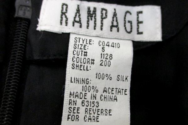 NWT Meier & Frank Black Rampage 100% Silk Beaded Sequin LBD Evening Gown Dress 5