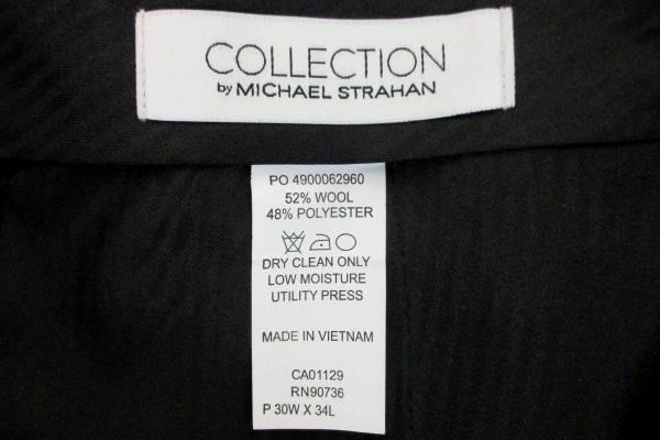 Collection By Michael Strahan Men's Tuxedo Dress Pants Size 30W X 34L Navy Blue