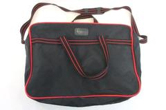 Vintage TOTES Whirlpool Dishwashers Quiet Wash Systems Duffle Tote Bag Red Black