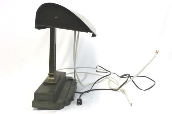 Art Deco Desk Table Lamp Globe Vintage Antique Office DIY Project M 50 - B