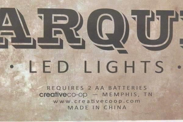 "Marquee 9"" Tall Metal LED Lights Letter ""O"" Rustic Rust Gunmetal Industrial"