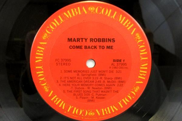 MARTY ROBBINS COME BACK TO ME LP RPM 33 VINYL COLUMBIA RECORDS BL37995