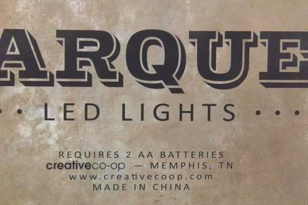 "Marquee 9"" Tall Metal LED Lights Letter ""I"" Rustic Rust Gunmetal Industrial"
