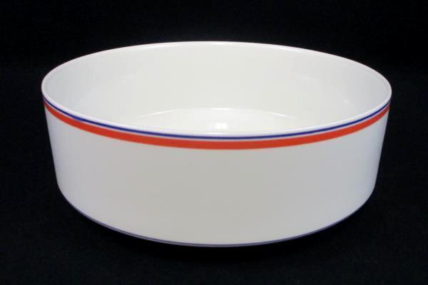 Villeroy & Boch Dinnerware Carrousel Blue/Orange Bands Round Vegetable Bowl
