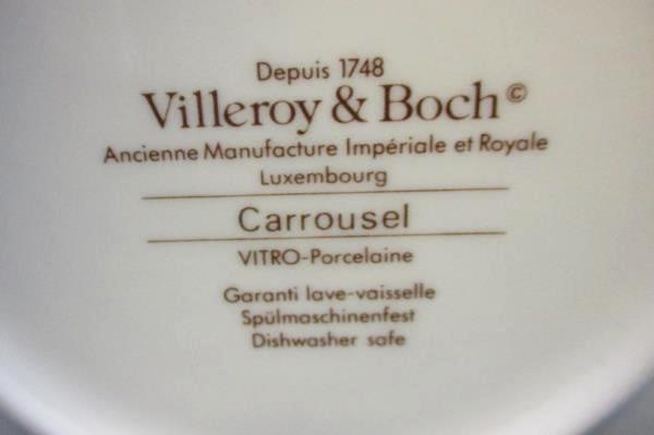 Set of 6 Villeroy & Boch Carrousel Blue Gold Bands Fruit Dessert Sauce Bowl