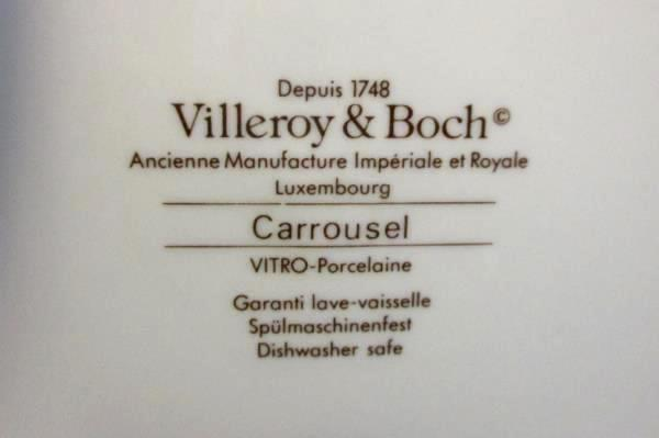 Set of 3 Villeroy & Boch Carrousel Blue Orange Bands Bread & Butter Plates