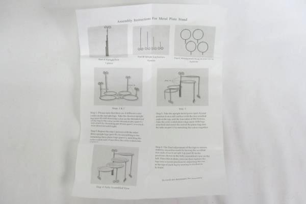 4 METAL PLATE STANDS Medium Connect Or Separate Wrought Iron