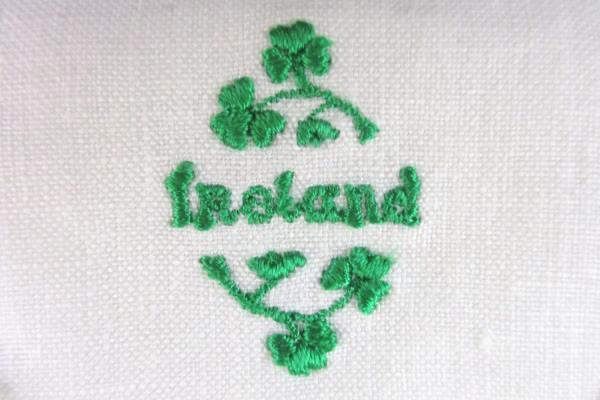 Vintage Linen Embroidered Ireland Dresser Sachet Potpourri