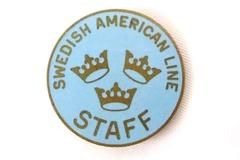 Sweden Vintage Dieges & Clust Pin Swedish American Line Cruise Ship Staff Crew