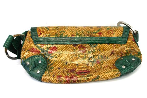 ALDO Faux Leather Snakeskin Pattern Clutch Purse Floral