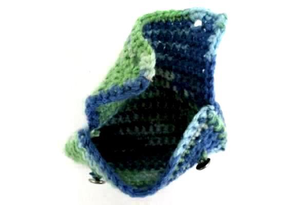 Women's Accessory Lot 2 Pieces Crochet Tablet Case Bag And Wallet Multicolor