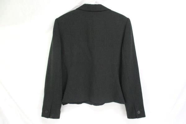 Casual Corner Gray Short Sport Coat Blazer Jacket Women's Size 16