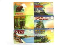 Lot Of 6 Souvenir Folders Scenic Postcards Redwood Hwy Washington DC Crater Lake