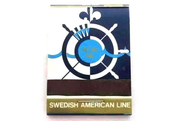 Vintage 1960s SWEDISH AMERICAN LINE Ship Souvenir Match Books Lot of 6