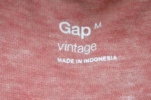 Gap Vintage Brand Polo Shirt Space Dye Red Short Sleeve Button Down Collar Men M