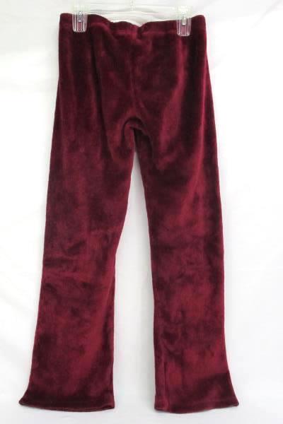 Rue 21 Burgundy Christmas Fleece Lounge Pants Happy Holiday Sequin Womens M